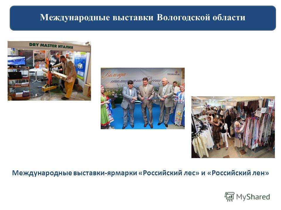 Международные выставки Вологодской области Международные выставки-ярмарки «Российский лес» и «Российский лен»