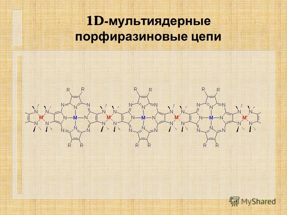 1D- мультиядерные порфиразиновые цепи