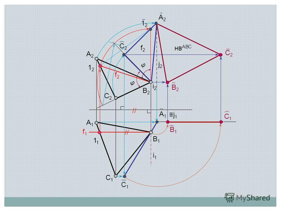 A2A2 B2B2 C2C2 C1C1 B1B1 A1A1 нв АВС A2A2 A1A1 C1C1 C1C1 В1В1 C2C2 B2B2 i2i2 i1i1 1212 1212 f1f1 f2f2 f2f2 1 // C2C2 j 1 j2j2