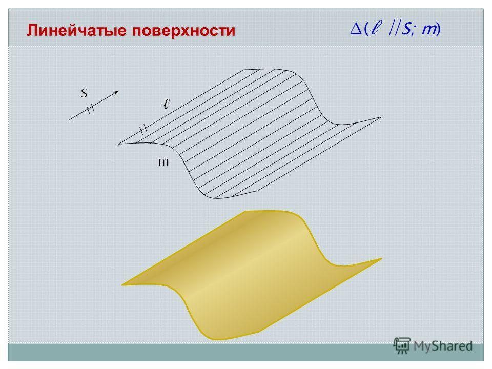 Линейчатые поверхности m ( S; m) S //