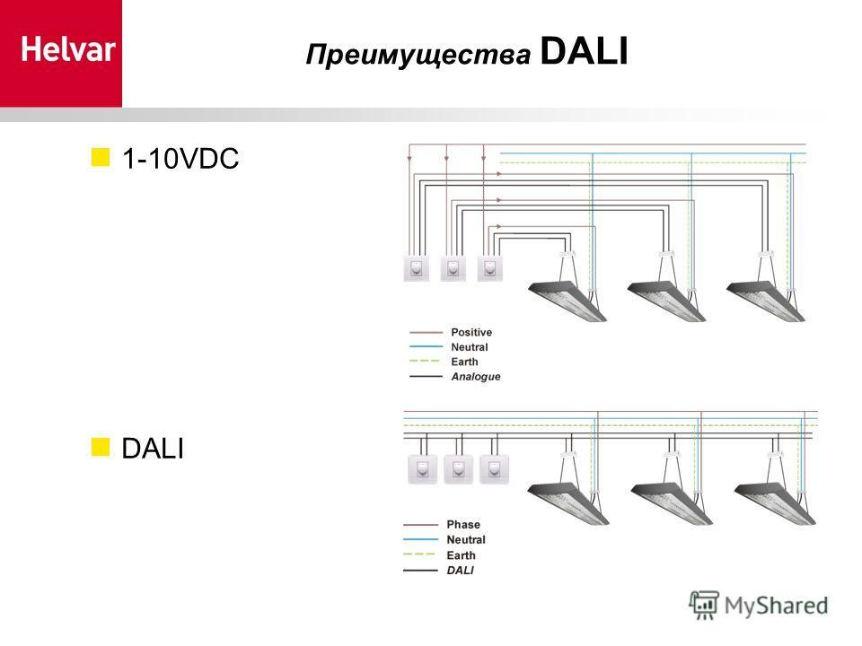 1-10VDC DALI Преимущества DALI