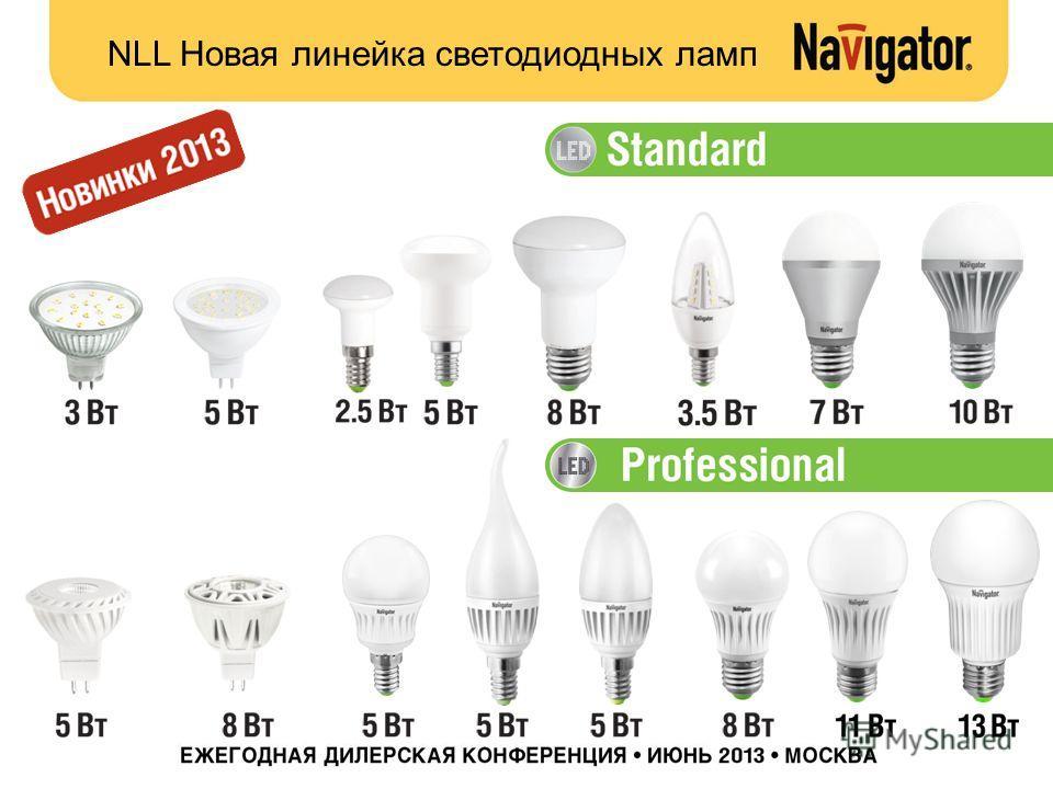 NLL Новая линейка светодиодных ламп