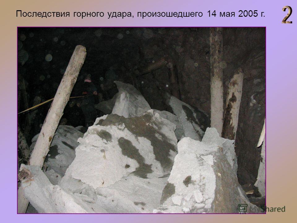 Последствия горного удара, произошедшего 14 мая 2005 г.