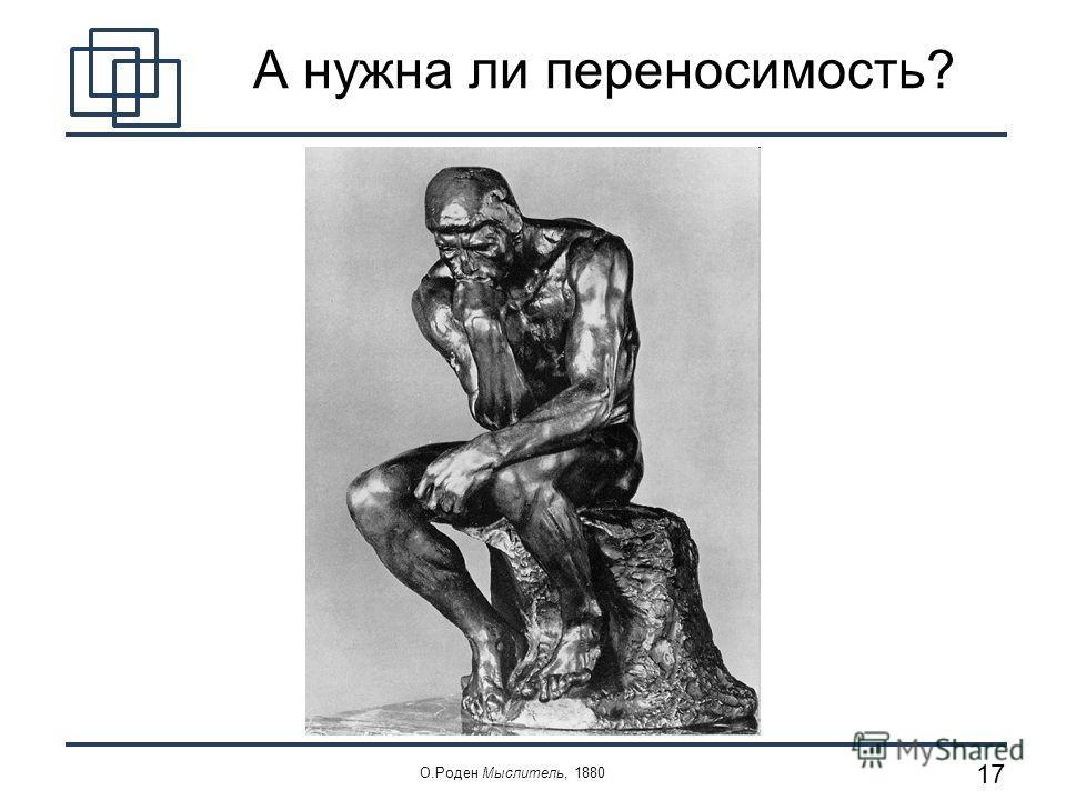 17 А нужна ли переносимость? О.Роден Мыслитель, 1880