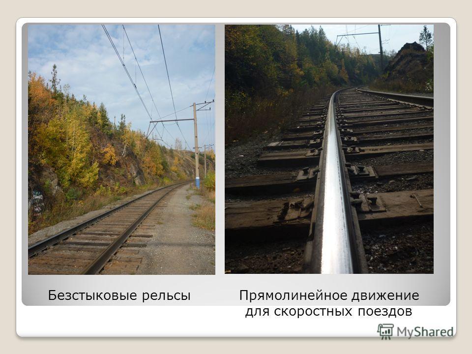 Безстыковые рельсыПрямолинейное движение для скоростных поездов