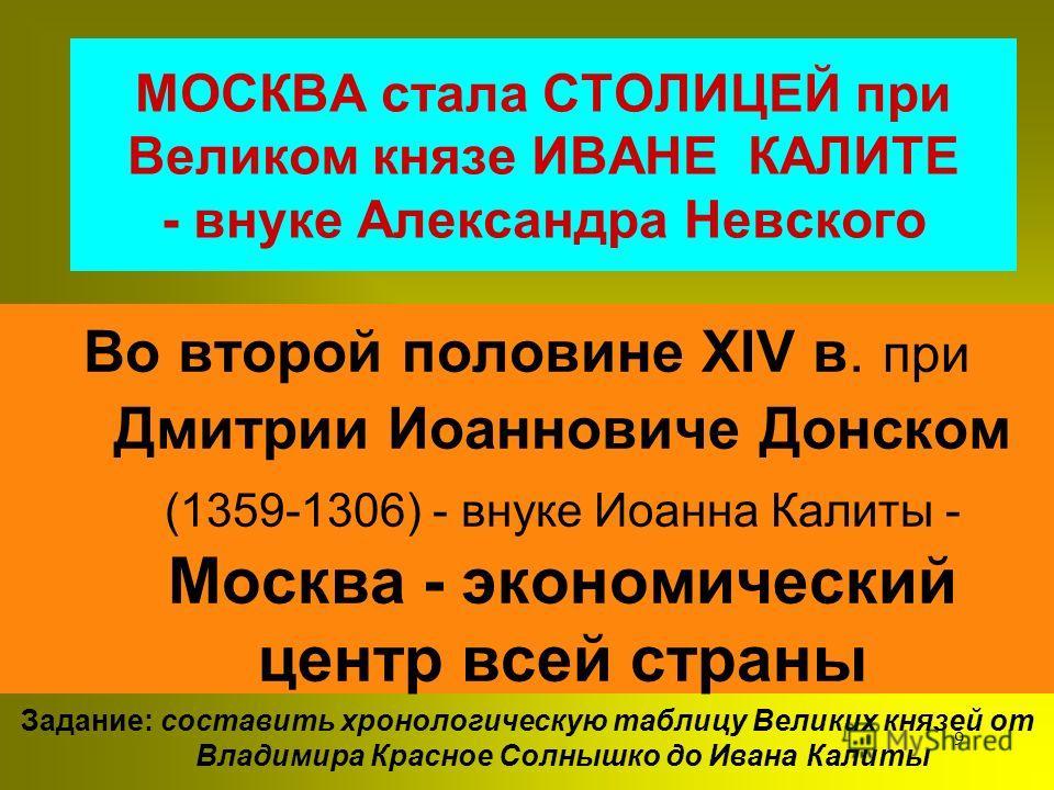 8 ДАНИИЛ Александрович возвеличил достоинство князей, оставил по себе память князя ДОБРОГО, СПРАВЕДЛИВОГО, а в борьбе смелого. Именно он подготовил Москву заступить место Владимира