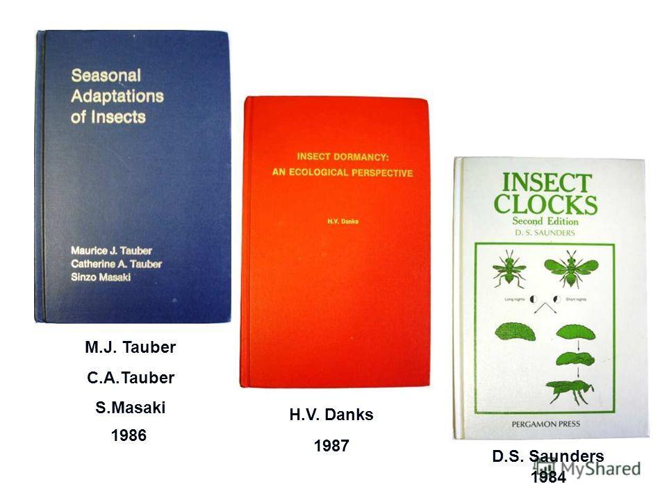 1986 1987 1984 M.J. Tauber C.A.Tauber S.Masaki H.V. Danks D.S. Saunders