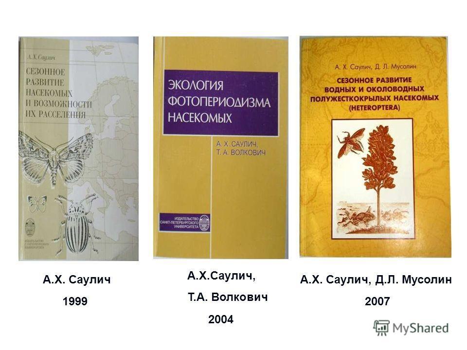 А.Х. Саулич, Д.Л. Мусолин 1999 А.Х.Саулич, Т.А. Волкович А.Х. Саулич 2004 2007