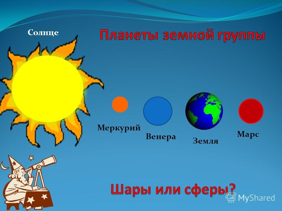 Солнце Меркурий Венера Земля Марс