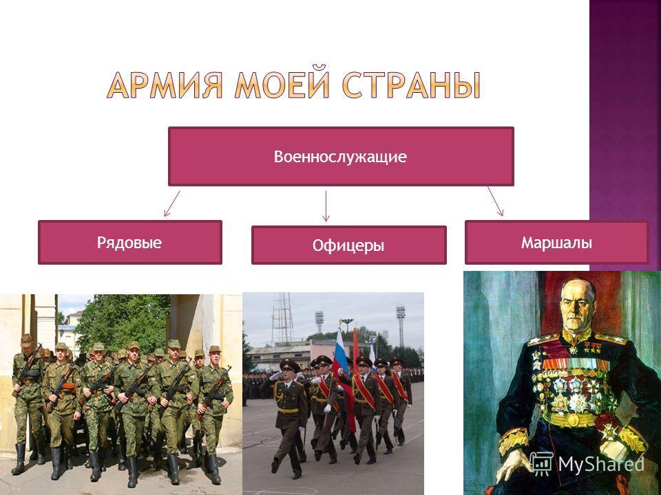Офицеры Военнослужащие РядовыеМаршалы