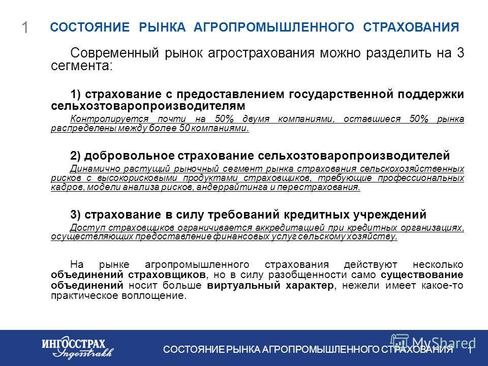 Принципы и идеология реформирования системы страхования агропромышленного производства 23 января 2007 г.