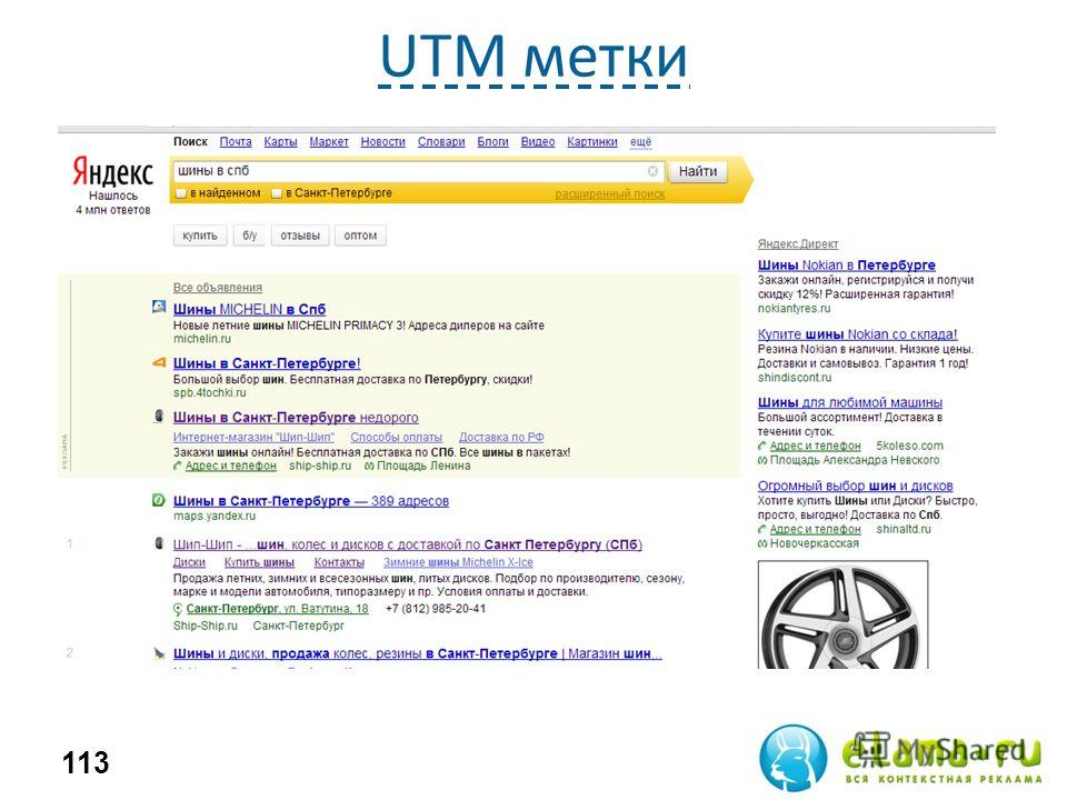 UTM метки 113