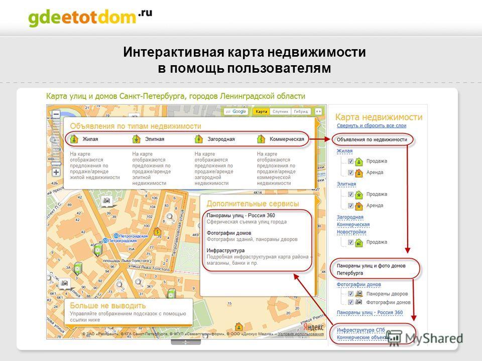 Интерактивная карта недвижимости в помощь пользователям