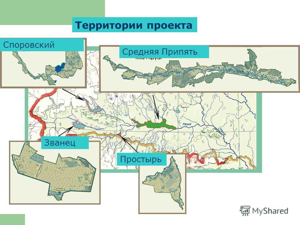 Территории проекта Средняя Припять Споровский Званец Простырь