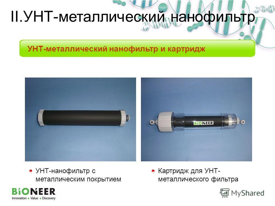 УНТ-металлический нанофильтр и картридж УНТ-нанофильтр с металлическим покрытием Картридж для УНТ- металлического фильтра II.УНТ-металлический нанофильтр