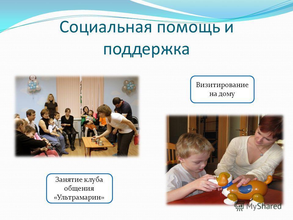 Социальная помощь и поддержка Визитирование на дому Занятие клуба общения «Ультрамарин»