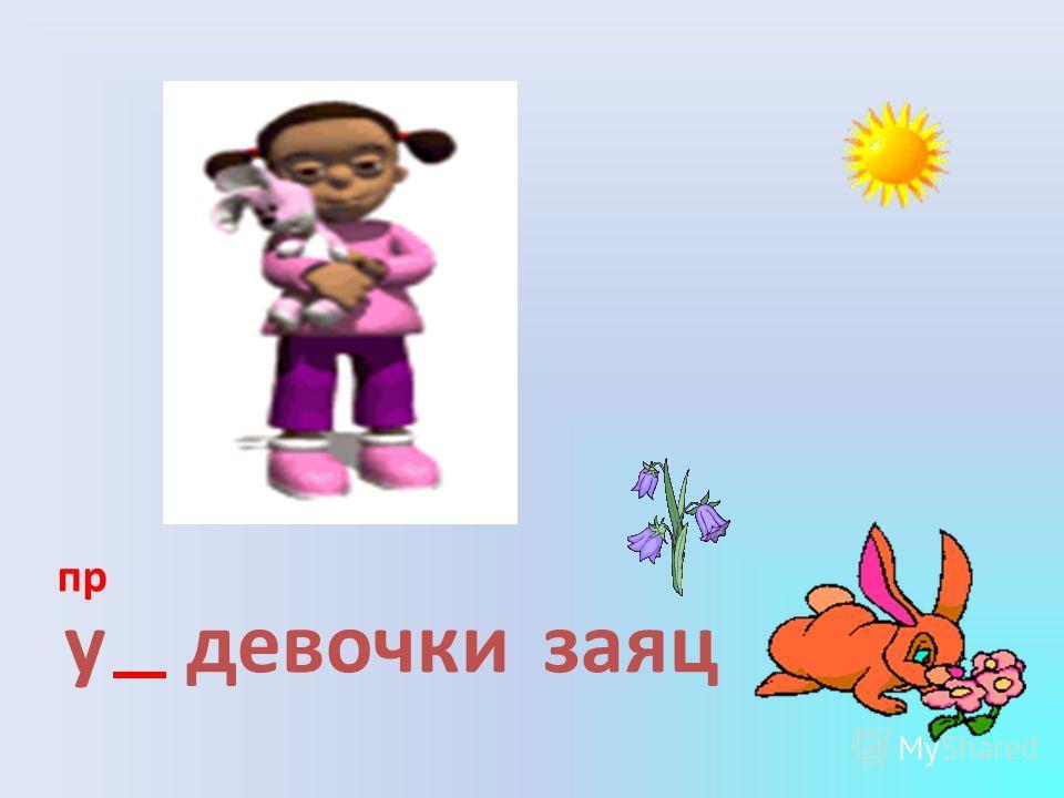 у девочкизаяц пр