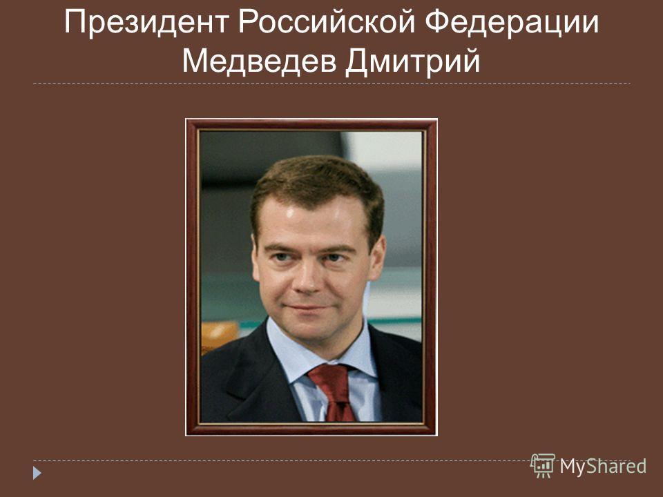 Президент Российской Федерации Медведев Дмитрий