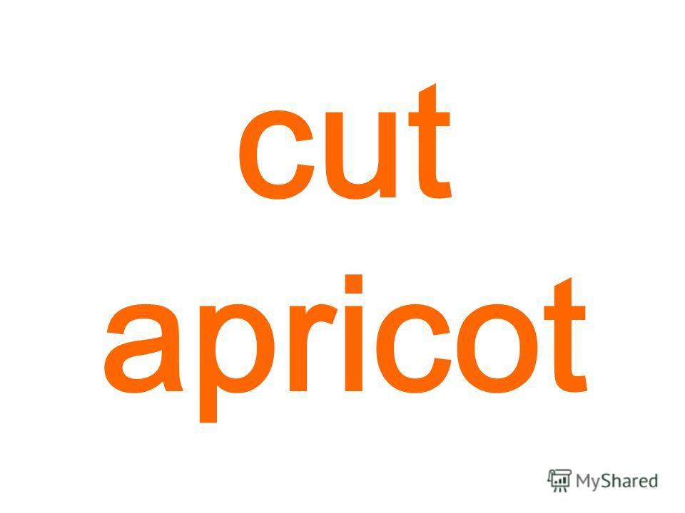cut apricot
