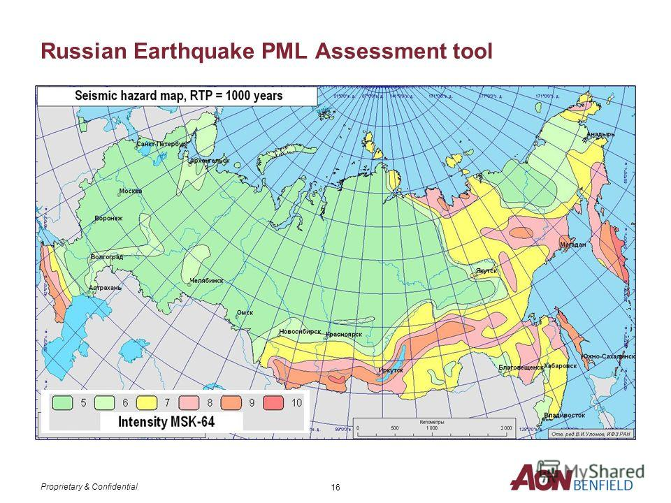 Proprietary & Confidential 15 Russian Flood PML Assessment tool