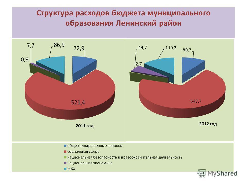 Структура расходов бюджета муниципального образования Ленинский район