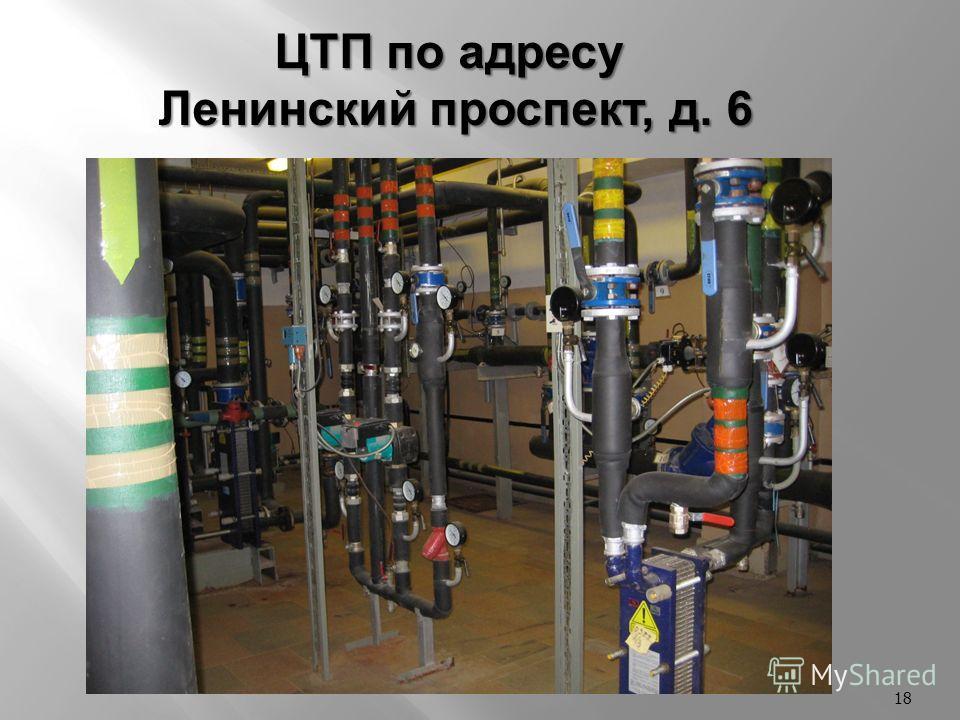 18 ЦТП по адресу Ленинский проспект, д. 6