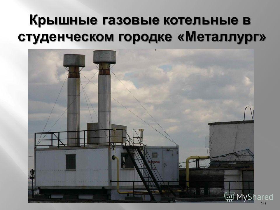 19 Крышные газовые котельные в студенческом городке «Металлург»