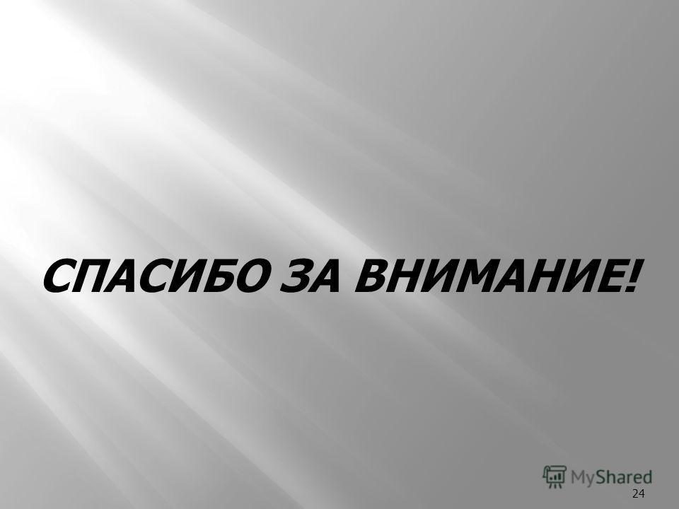 24 СПАСИБО ЗА ВНИМАНИЕ!