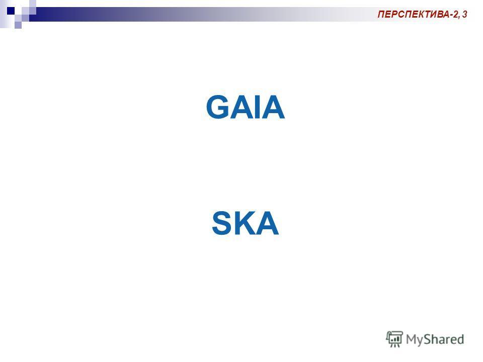 ПЕРСПЕКТИВА-2, 3 GAIA SKA