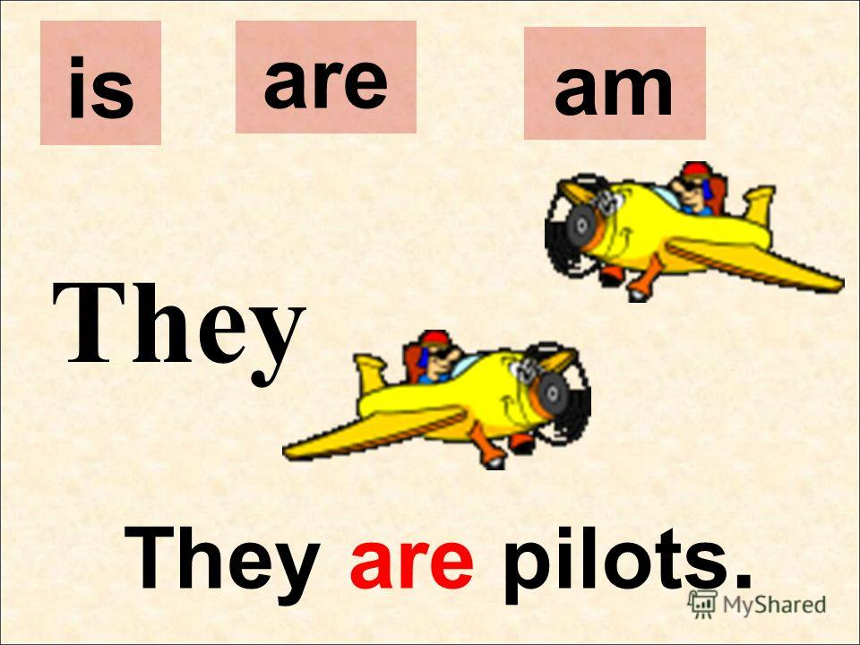 They They are pilots. is are am