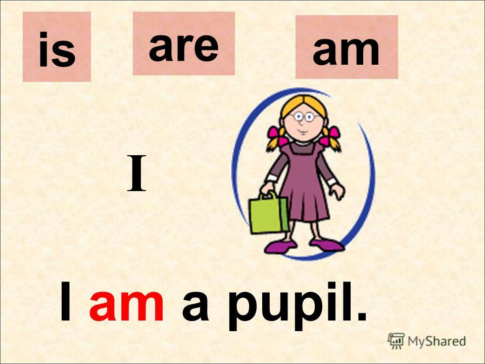 I I am a pupil. is are am