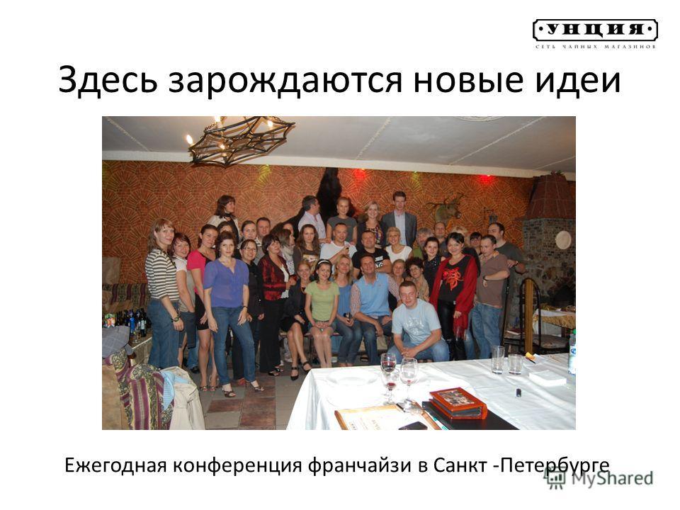 Здесь зарождаются новые идеи Ежегодная конференция франчайзи в Санкт -Петербурге