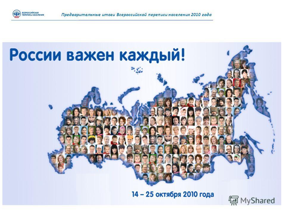 Предварительные итоги Всероссийской переписи населения 2010 года