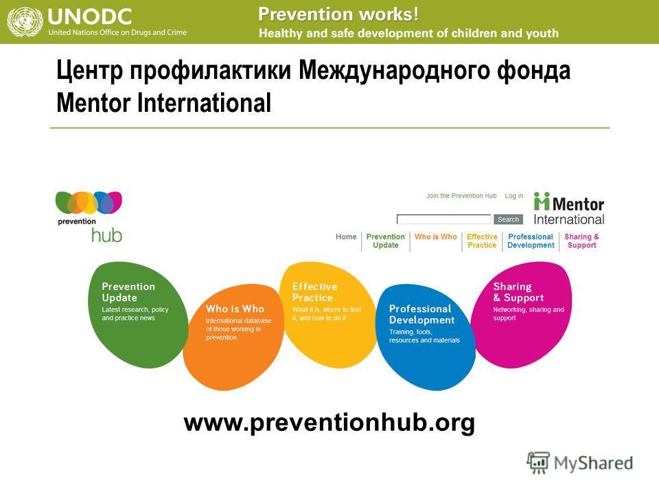 Центр профилактики Международного фонда Mentor International www.preventionhub.org