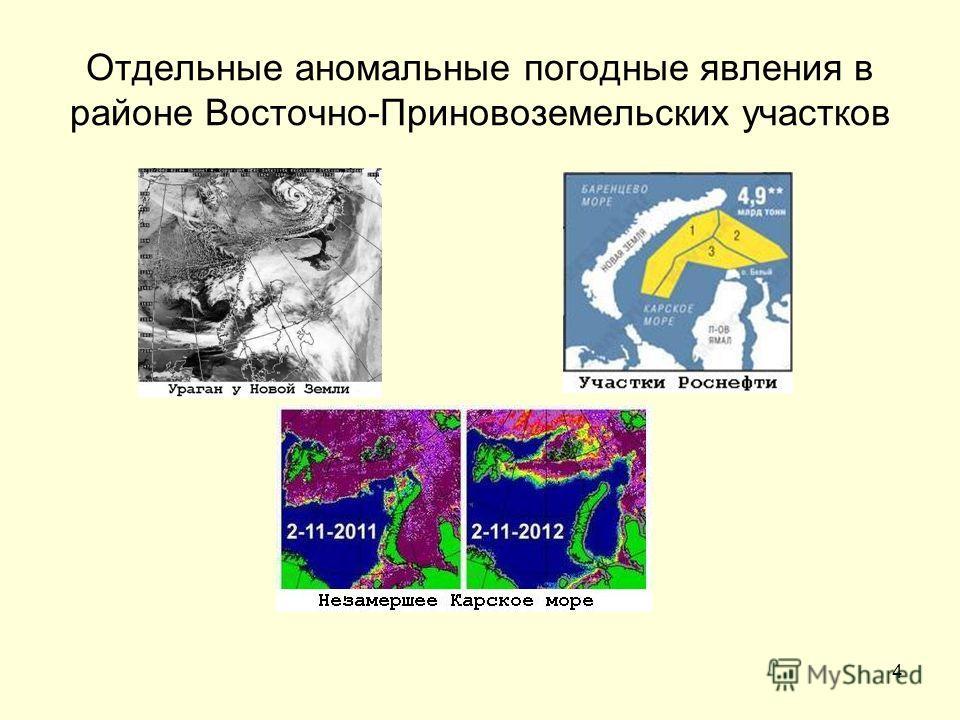 4 Отдельные аномальные погодные явления в районе Восточно-Приновоземельских участков