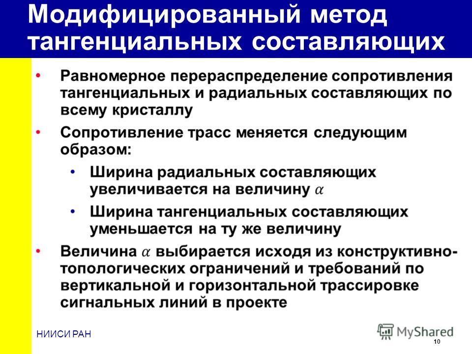10 НИИСИ РАН Модифицированный метод тангенциальных составляющих
