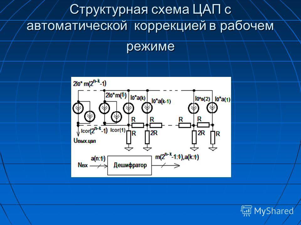 Структурная схема ЦАП с автоматической коррекцией в рабочем режиме