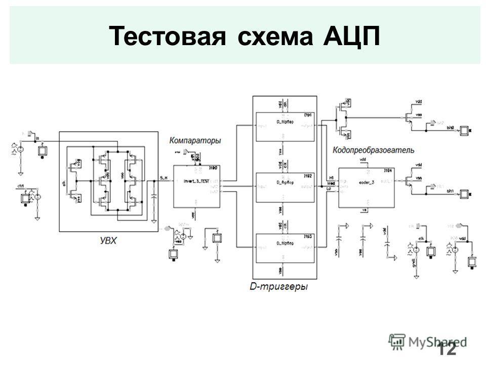 Тестовая схема АЦП 12