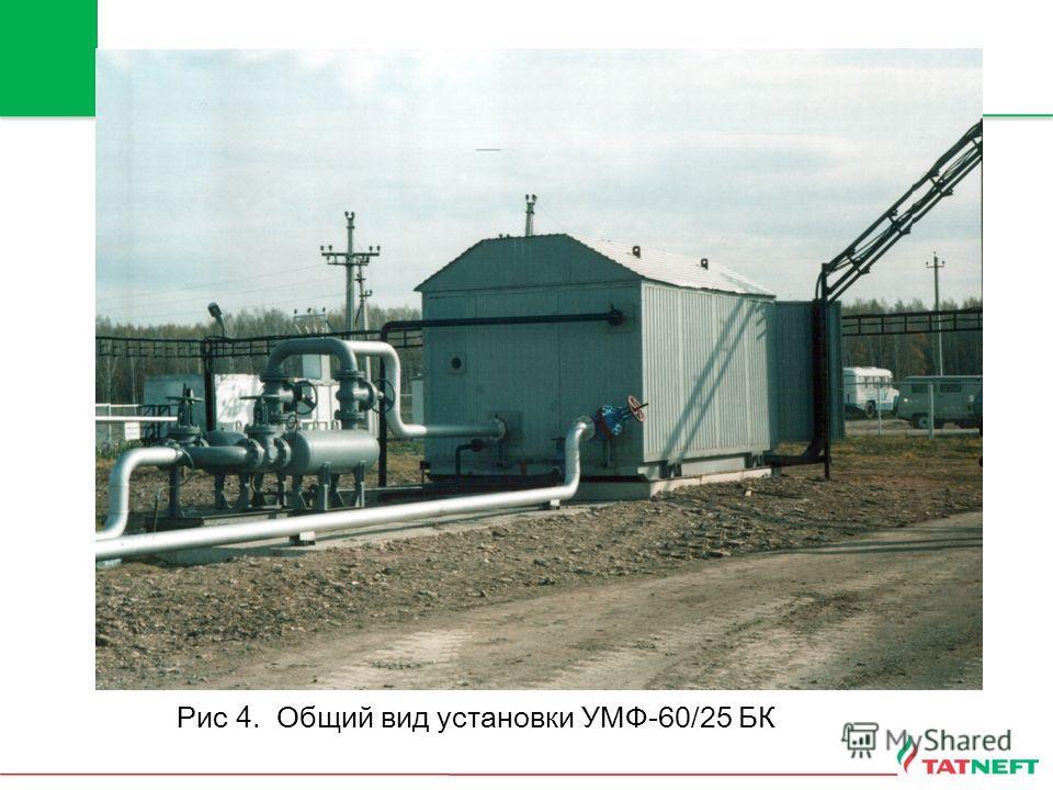 Рис 4. Общий вид установки УМФ-60/25 БК