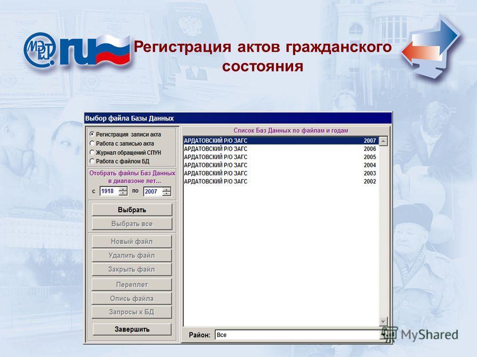 Регистрация актов гражданского состояния