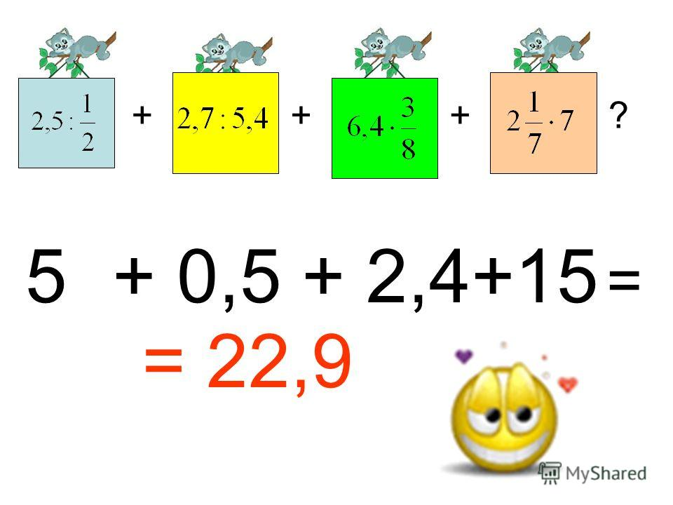 +++? 5 + 0,5 + 2,4+15 = = 22,9