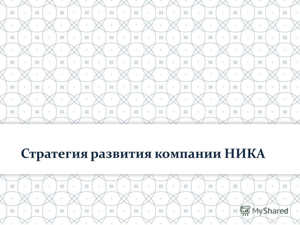 Стратегия развития компании НИКА