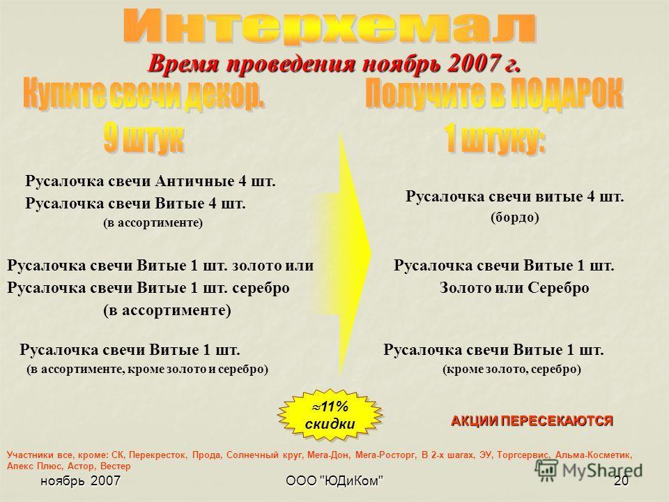 ноябрь 2007ООО