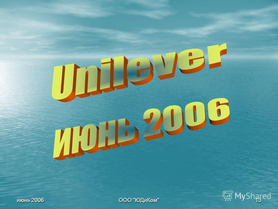 ООО ЮДиКом 13 июнь 2006