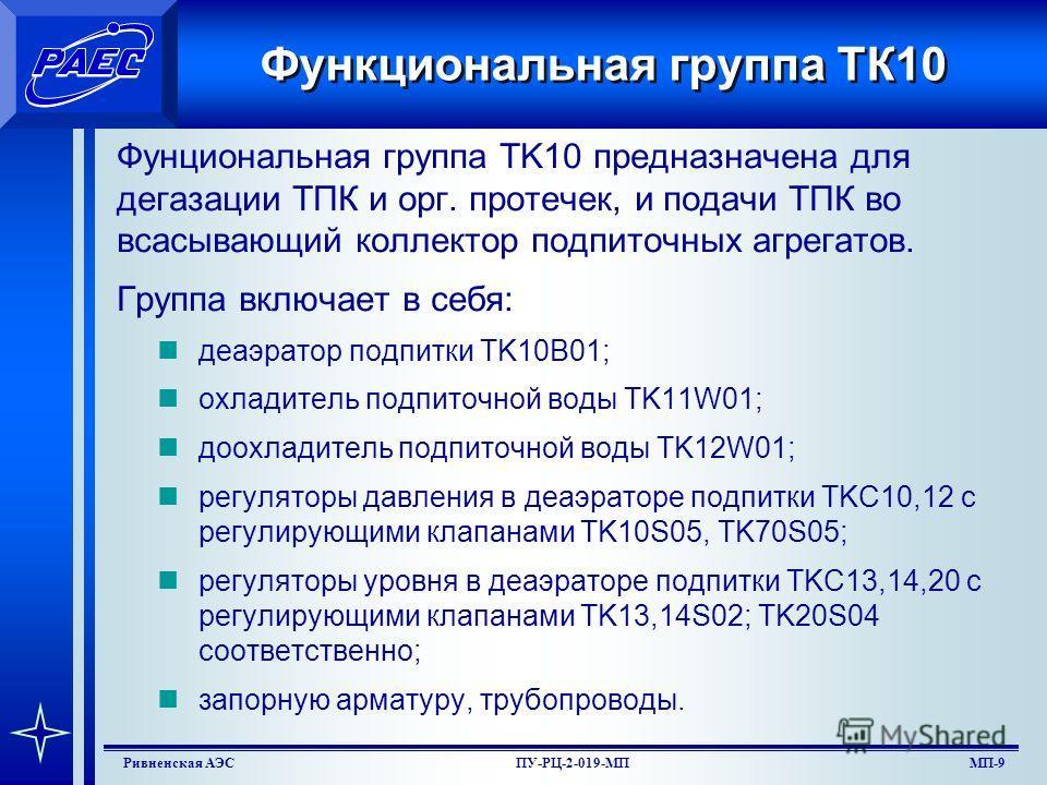 МП-7Ривненская АЭСПУ-РЦ-2-019-МП Упрощенная схема системы TK