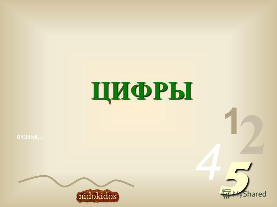 013456… 1 2 4 5 ЦИФРЫ