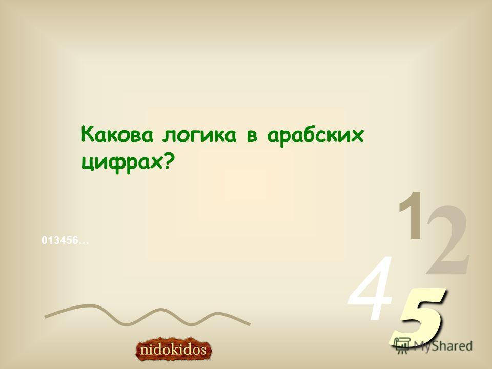 013456… 1 2 4 5 Какова логика в арабских цифрах?