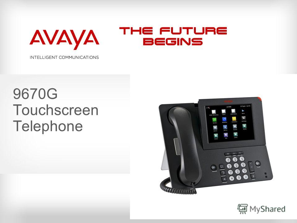 The Future Begins 9670G Touchscreen Telephone