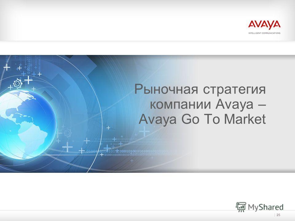 Рыночная стратегия компании Avaya – Avaya Go To Market 25