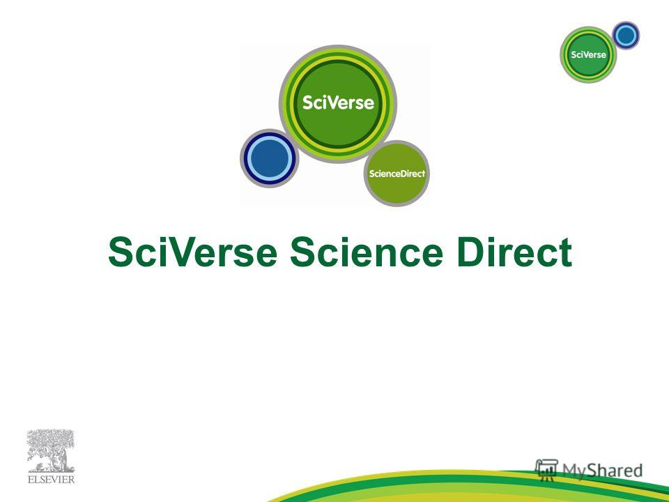 SciVerse Science Direct